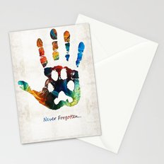 Rainbow Bridge Art - Never Forgotten - By Sharon Cummings Stationery Cards