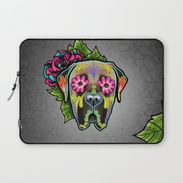 Mastiff in Fawn - Day of the Dead Sugar Skull Dog Laptop Sleeve