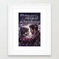 captain swan Framed Art Prints featuring Captain Swan Magical Christmas by Svenja Gosen