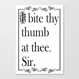 SHAKESPEAREAN INSULT Canvas Print