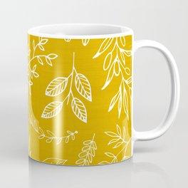 Golden Nature / hand drawn herbs Coffee Mug
