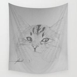 Sleepy Kitty Wall Tapestry