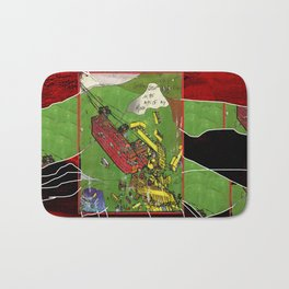 Super Monorails in the Alps of My Mind Bath Mat