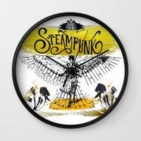 steampunk Wall Clocks featuring SteamPunk by Genco Demirer