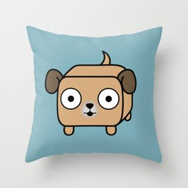 Pitbull Loaf - Fawn Pit Bull with Floppy Ears Throw Pillow