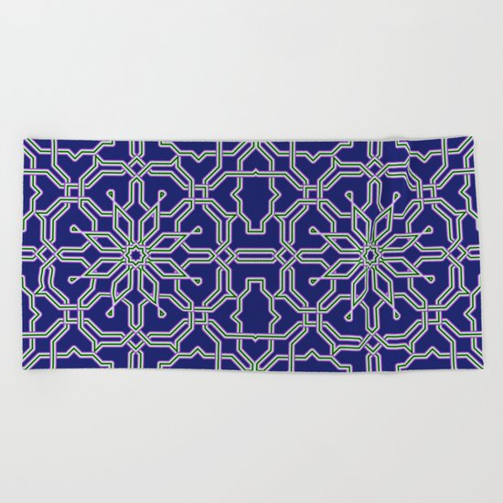 Tiles and geometric patterns Beach Towel