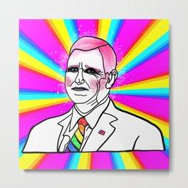 Gay Mike Pence Sparkling in Drag Metal Print