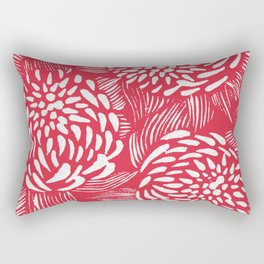 Waratahs Red Rectangular Pillow