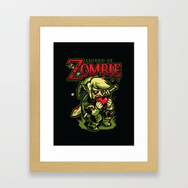 Legend of Zombie Framed Art Print