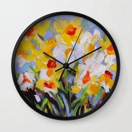 Daffodil Tangle Wall Clock