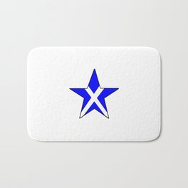 flag of scotland 8– scotland,scot,scottish,Glasgow,Edinburgh,Aberdeen,dundee,uk,cletic,celts,Gaelic Bath Mat
