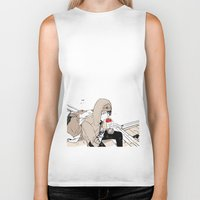 doberman Biker Tanks featuring Monsieur Doberman by Cassandra Jean