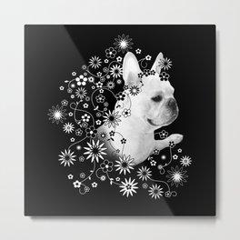 Flower Goddess Frenchie Metal Print