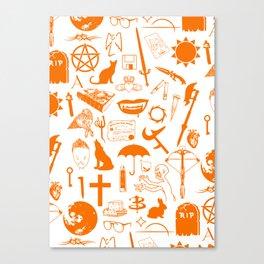 Buffy Symbology, Orange Canvas Print