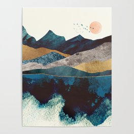 Blue Mountain Reflection Poster