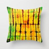 tye dye Throw Pillows featuring PILLOW TYE DYE 101 by the artist J©