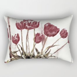 tulips della finestra - floral still life Rectangular Pillow