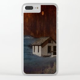 The Surface of Solitude-Hardship Clear iPhone Case