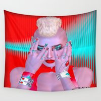 punk rock Wall Tapestries featuring Cyber Punk by TK0920