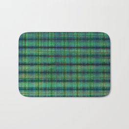 Forest Straw Plaid On Frozen Lake Bath Mat