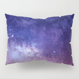 STARS - NIGHT - GALAXY - PURPLE - PINK - INDIGO Pillow Sham