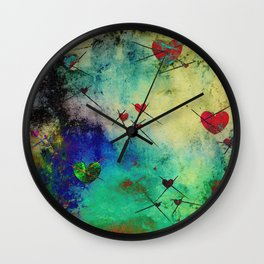 A prick here, a prick there. Wall Clock
