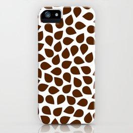 Brown Petal Pattern iPhone Case