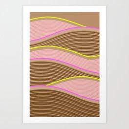 Happy Times - Chocolate Fields Art Print