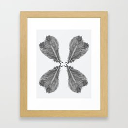 Feather Fan black and white Framed Art Print