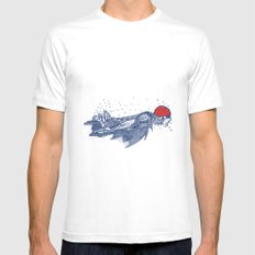 Olympic Swimmer  MEDIUM Mens Fitted Tee White