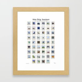 Side Trip Sundays: 52 Weeks of Landscape Watercolor Paintings Framed Art Print