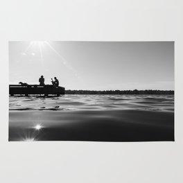 Black Lake Sunbursts Rug