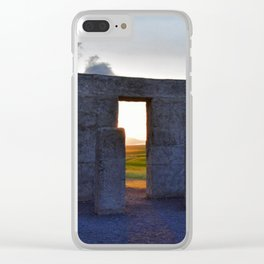 Stonehenge Zeotrope Clear iPhone Case