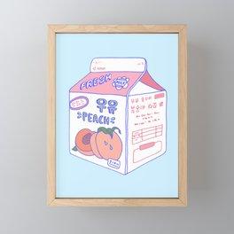 Peach Milk Framed Mini Art Print