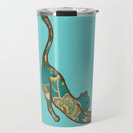 I love you Kitten in Blue-Green Travel Mug