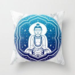 Buda Gautama, Siddharta Gautama, Sakiamuni (blue) Throw Pillow