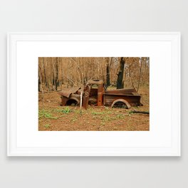 Lost Truck Framed Art Print