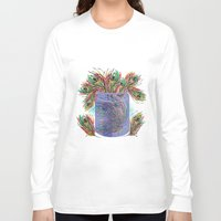 feathers Long Sleeve T-shirts featuring Feathers by famenxt