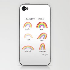 rainbow types iPhone & iPod Skin