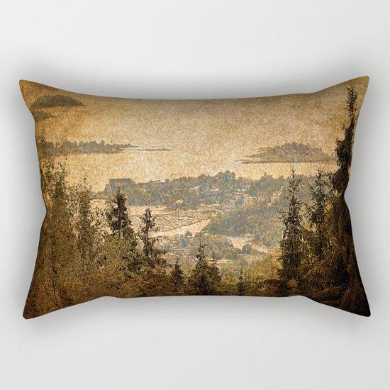 vintage forest landscape Rectangular Pillow