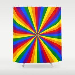 Eternal Rainbow Infinity Pride Shower Curtain