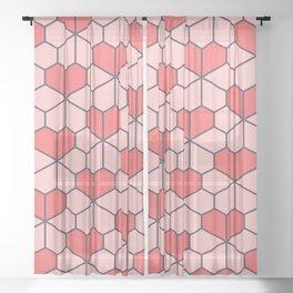 Geometric Love Sheer Curtain