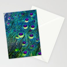 Trippy Peacock Stationery Cards