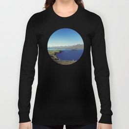 She felt tiny in Lake Tekapo Long Sleeve T-shirt