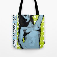 scandal Tote Bags featuring Scandal by D. H. Carter