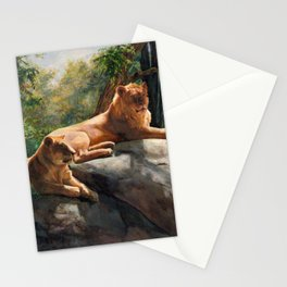 Two Lions In Love Stationery Cards