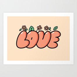 LOVE (pink) Art Print