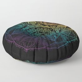 Sirius mandala Floor Pillow