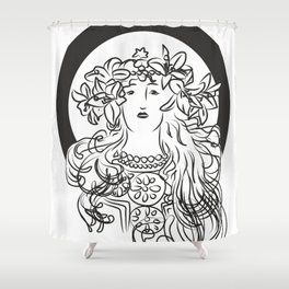 Mucha's Inspiration Shower Curtain