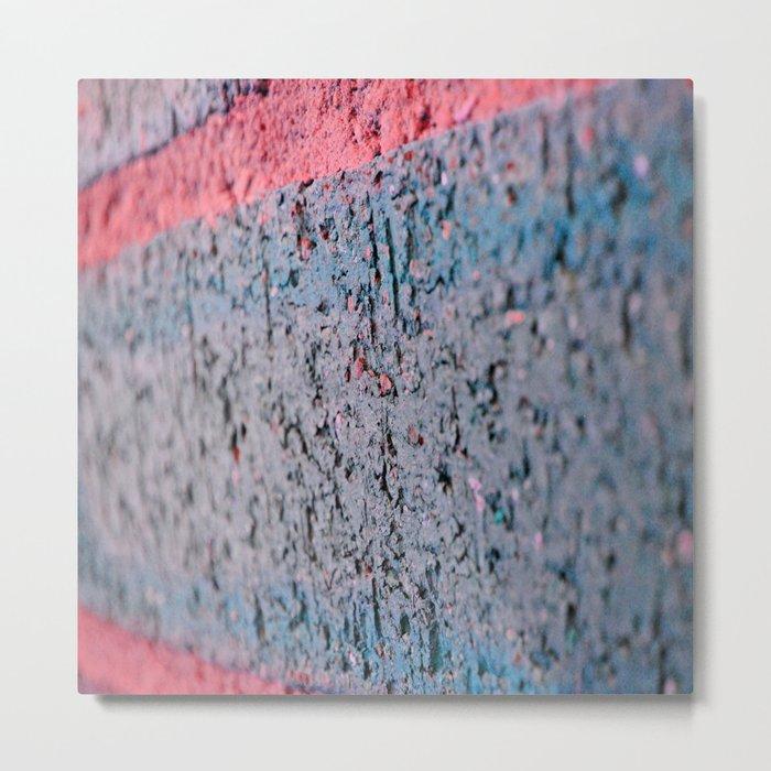 Pink Brick Metal Print